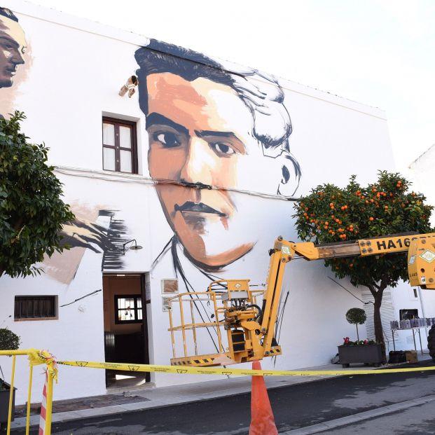 EuropaPress 2591246 Imagen del grafiti realizado por 'El Niño de las Pinturas' en el Museo Casa Federico García Lorca