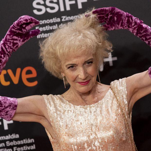 La actriz Marisa Paredes durante la gala de clausura del Festival de San Sebastián a 28 de septiembre de 2019