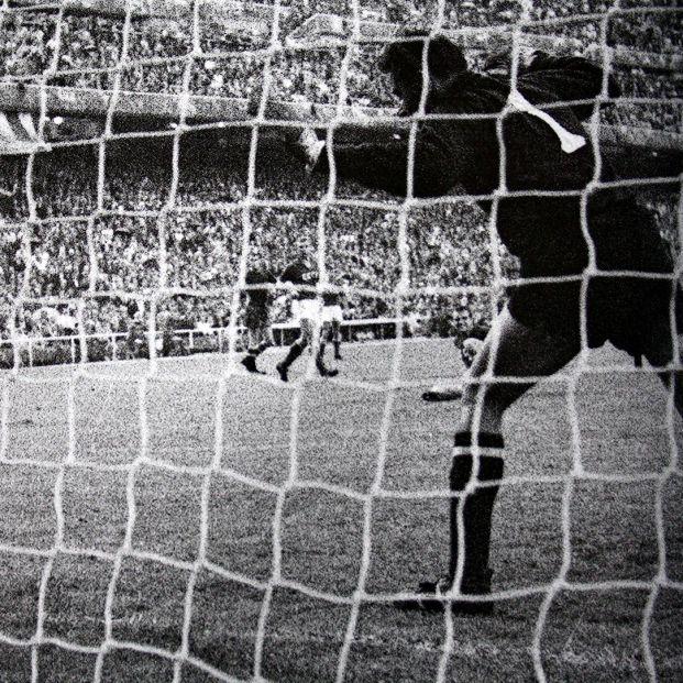 Lev Yashin en el gol de Marcelino ante la Unión Soviética en la Eurocopa de 1964 (Archivo RTVE)