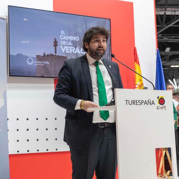 El presidente murciano Fernando López Miras presenta en FITUR 'El Camino de la Vera Cruz'
