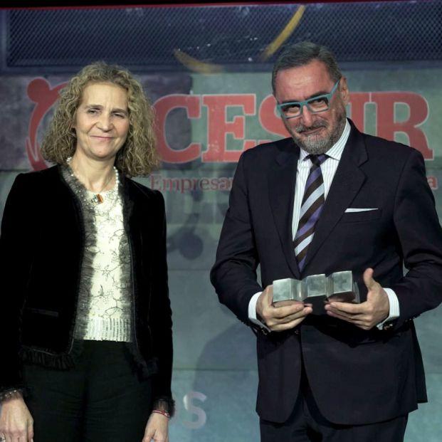 Carlos Herrera y la Infanta Elena