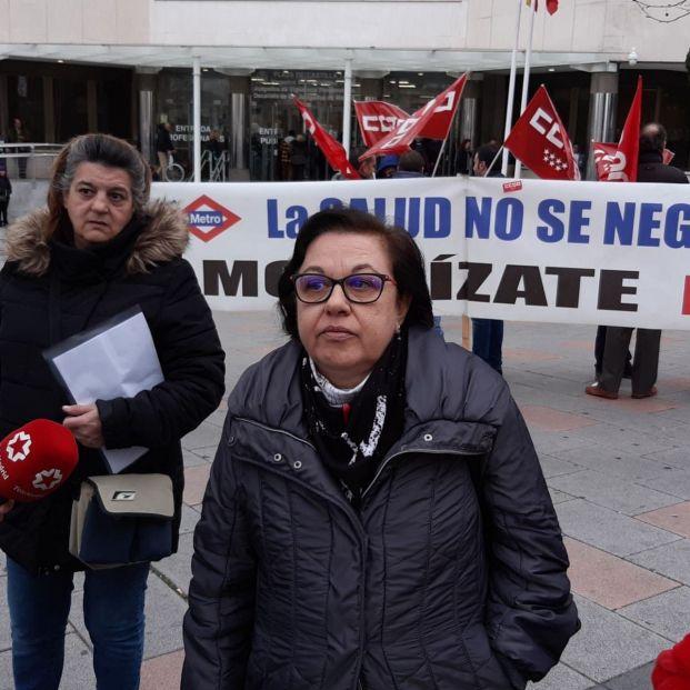 La viuda del primer trabajador de Metro de Madrid fallecido por inhalar amianto. Foto: EuropaPress
