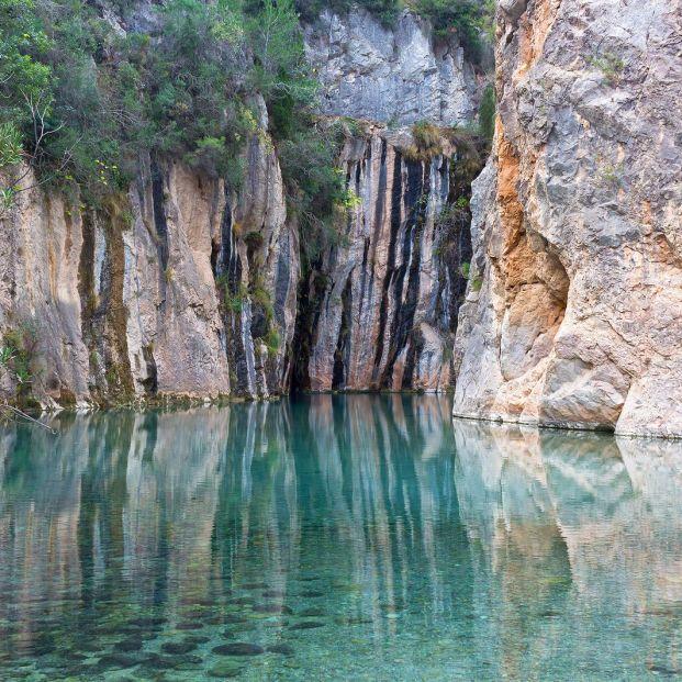 Piscinas naturales de aguas termales en Montanejos