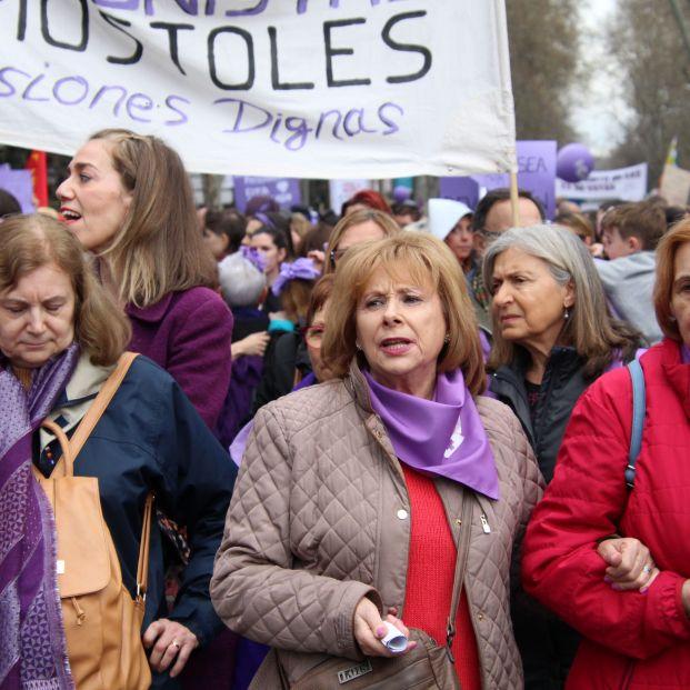 Las mujeres mayores, protagonistas de las movilizaciones del 8M
