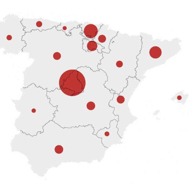 Mapa del coronavirus en España: así se propaga la pandemia