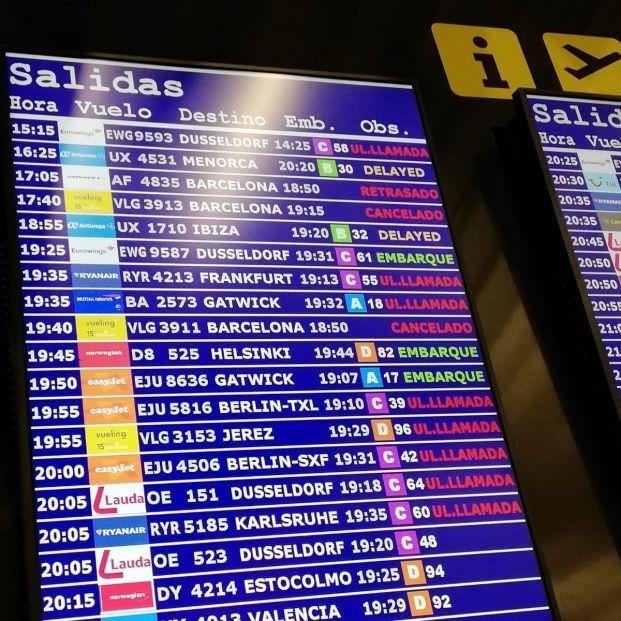 EuropaPress 2426414 vuelos cancelados retrasados aeropuerto palma destino barcelona