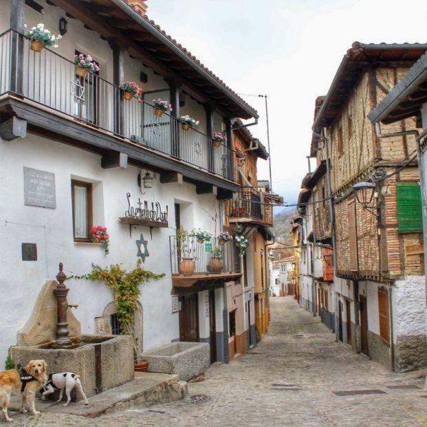 Vista del barrio judío de Hervás (https://twitter.com/DSenderista/status/1096487379794317313)