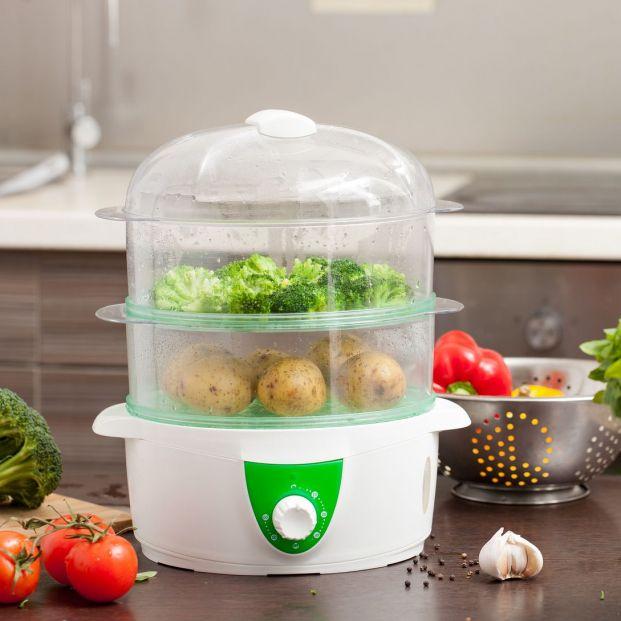 Una vaporera para preparar platos saludables