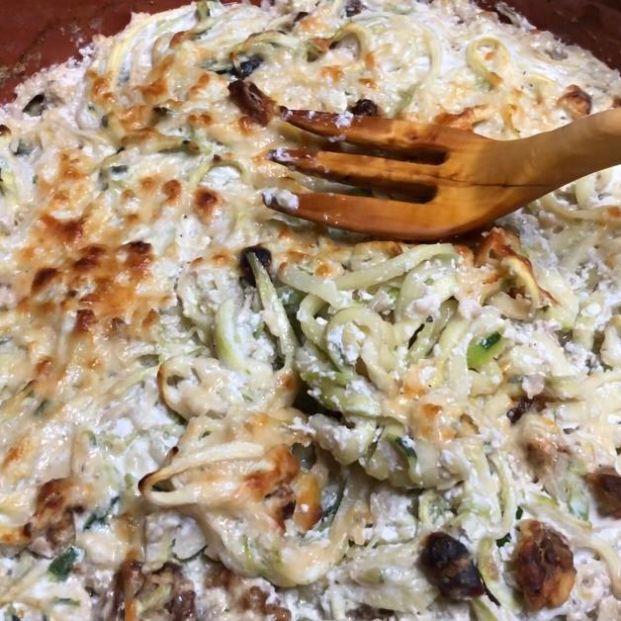 Gratinado de calabacín con queso ricotta y frutos secos: las recetas de cocina de Eloy Moral
