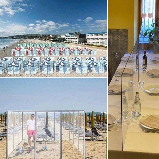 ¿Un verano entre mamparas?: diseñan pantallas anticoronavirus para playas y restaurantes