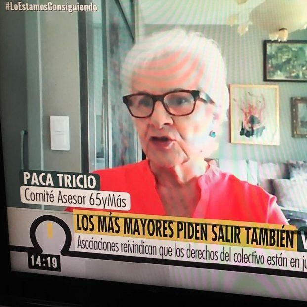 """Paca Tricio: """"No se puede tratar a los mayores como si fuéramos niños"""""""
