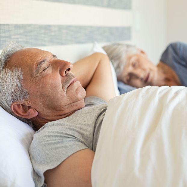 bigstock Senior man and woman sleeping  270492709