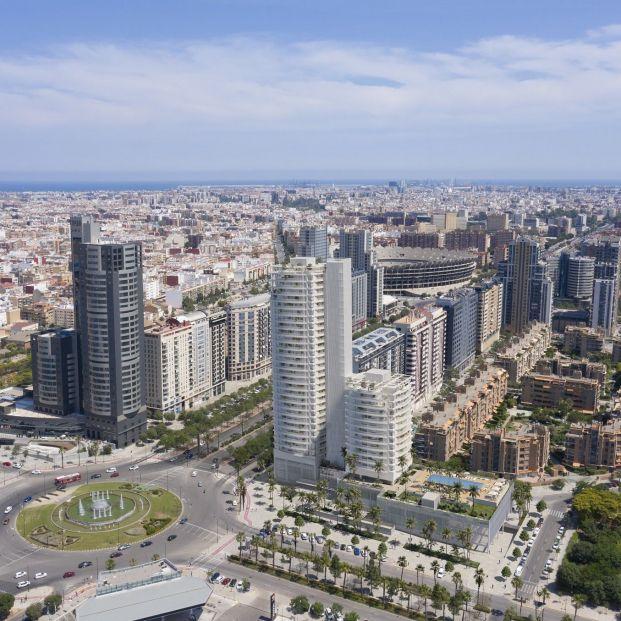 Arrancan las obras de las torres Ikon, el edificio residencial más alto de Valencia