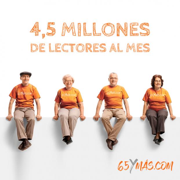 65Ymás se consolida como el diario líder para el segmento sénior con 4,5 millones de lectores al mes