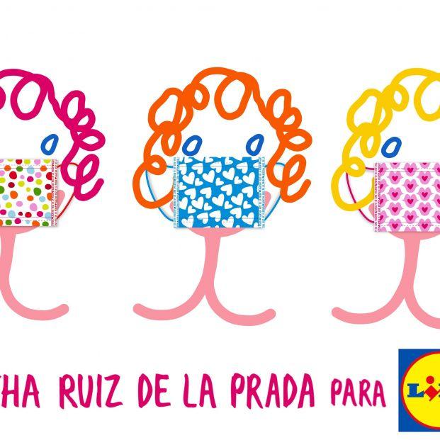 Lidl y Agatha Ruiz de la Prada lanzan una colección de mascarillas solidarias