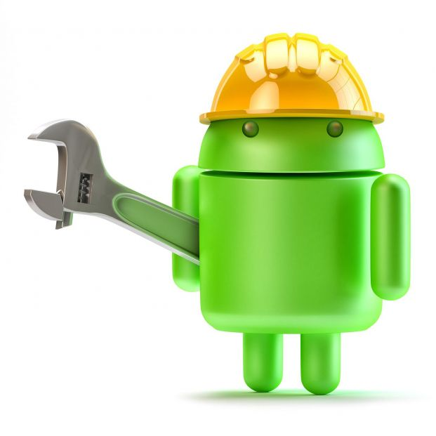 bigstock Android With Adjustable Wrench 50929808