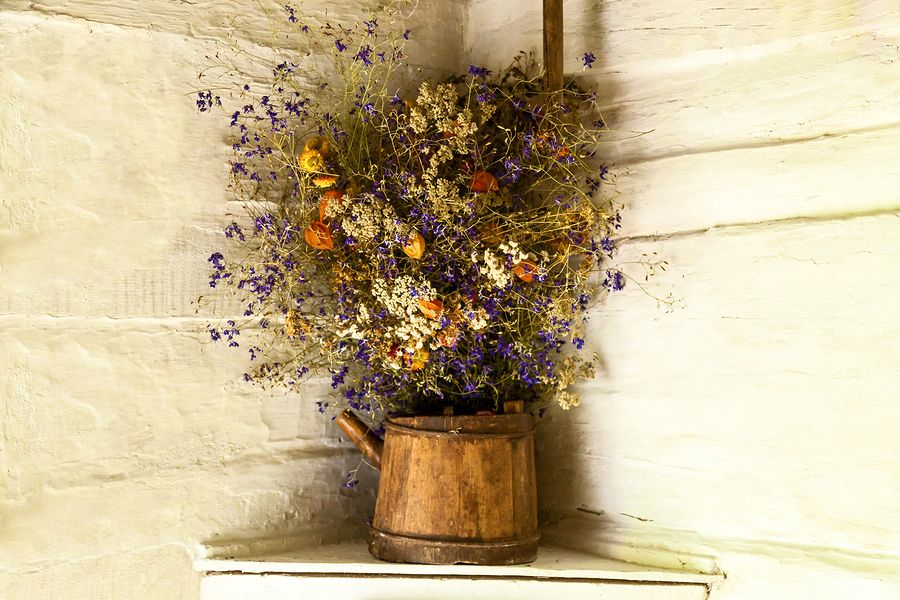 bigstock Still Life Of Dried Flowers On 241288711