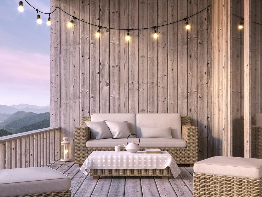 bigstock Wooden Balcony With Mountain V 310804621
