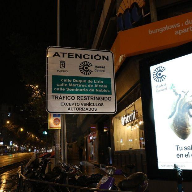 Las multas en Madrid Central empiezan este sábado