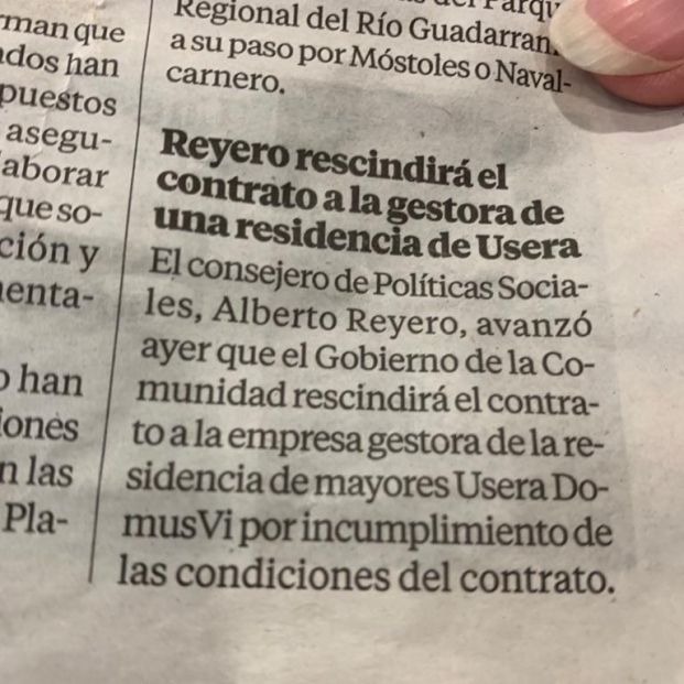 Diario residencia mayores: EPI reutilizar