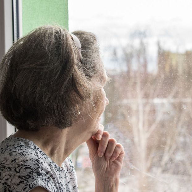 bigstock Sad Lonely Old Woman Look Next 335734264