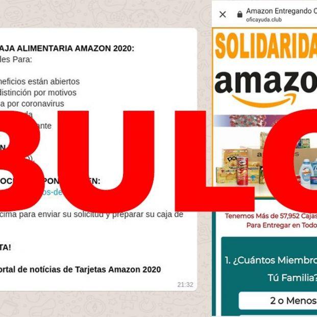 Amazon no está regalando cajas de alimentos por la cuarentena: ¡Es una estafa!