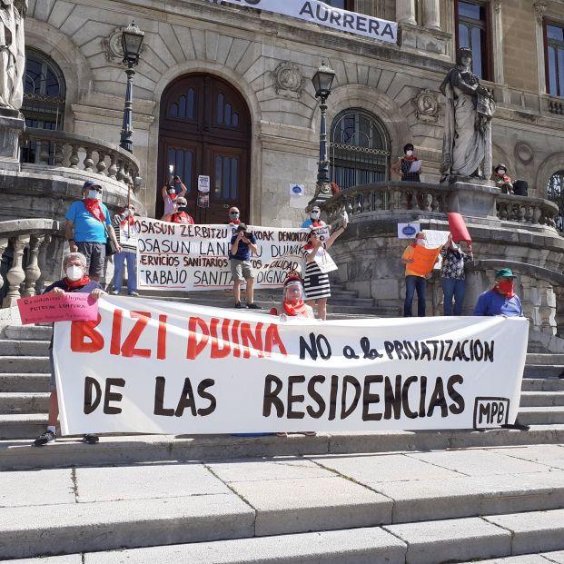 Elecciones 12J: Los mayores vascos exigen pensiones dignas y cambiar el modelo de residencias