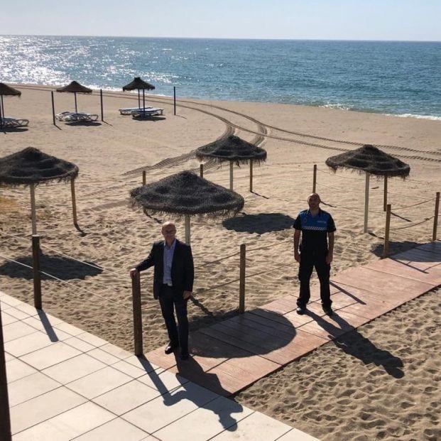 Mijas habilita zonas de playa para mayores de 65 años