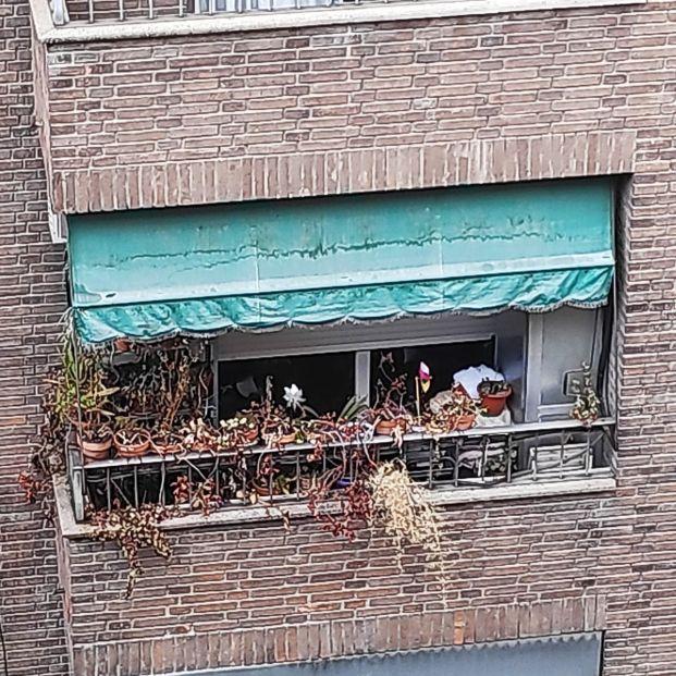 Cicatrices de una pandemia: la historia tras la foto del balcón más triste de Madrid