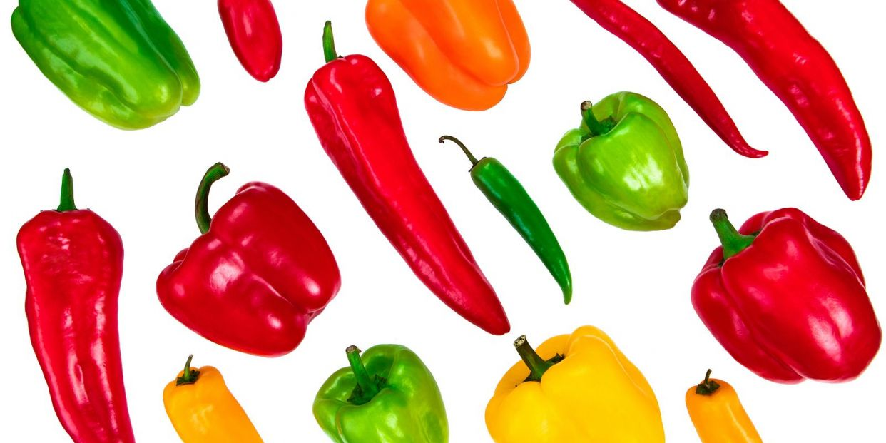 bigstock Many Types Of Peppers Colorfu 358775861
