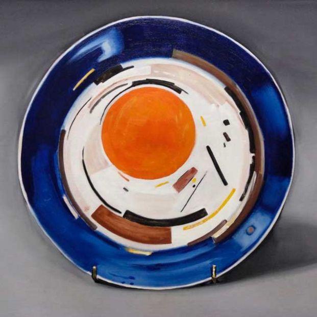 Pintura en la Exposición 'Alles auf Gold' de Ubay Murillon