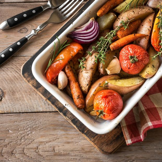 bigstock Oven Roasted Vegetables With S 325880194