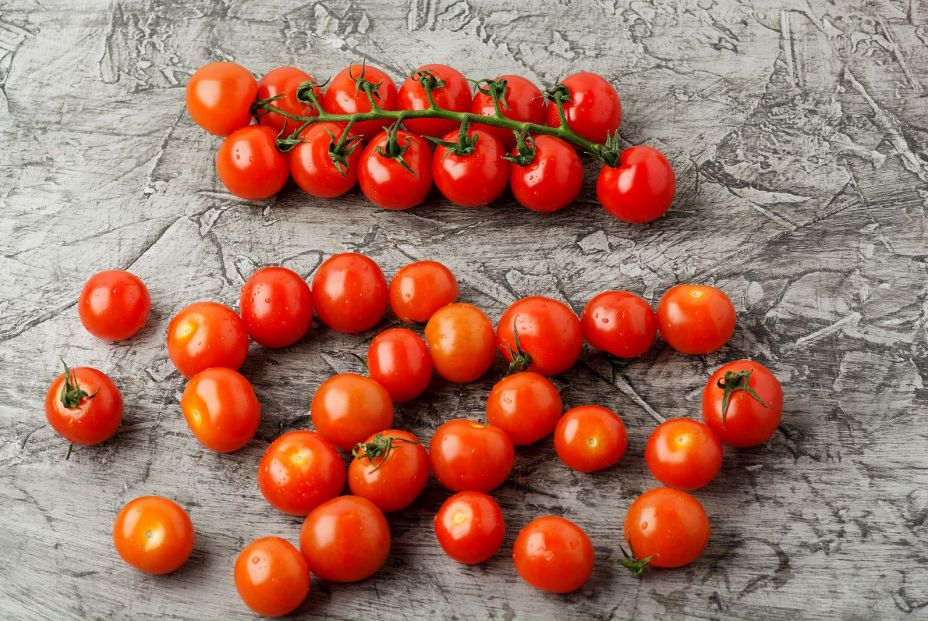 bigstock Group Of Cherry Tomatoes On A  367124455