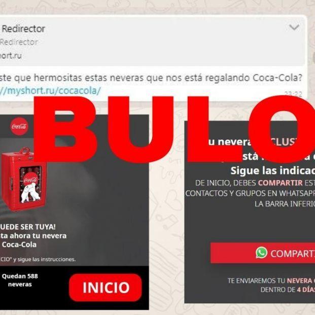 No, Coca-Cola no está regalando neveras por contestar a tres preguntas: es un fraude