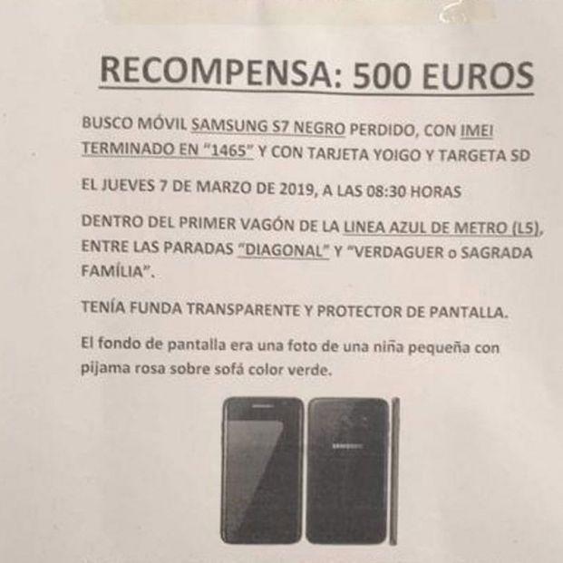 Un hombre ofrece 500 euros de recompensa por recuperar un móvil con las fotos de su hija