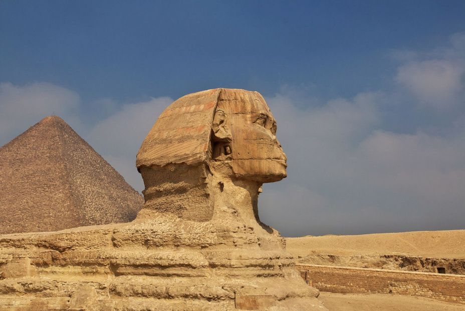 bigstock Great Sphinx And Pyramids Of A 372040315