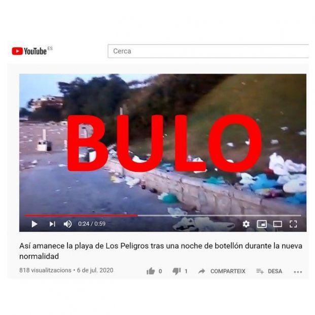 La playa de Los Peligros en Santander NO está llena de basura y mascarillas: es un bulo