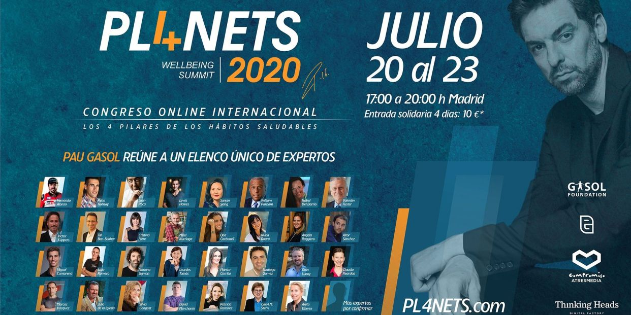Pau Gasol organiza el congreso Pl4nets Wellbeing Summit Foto: Europa Press