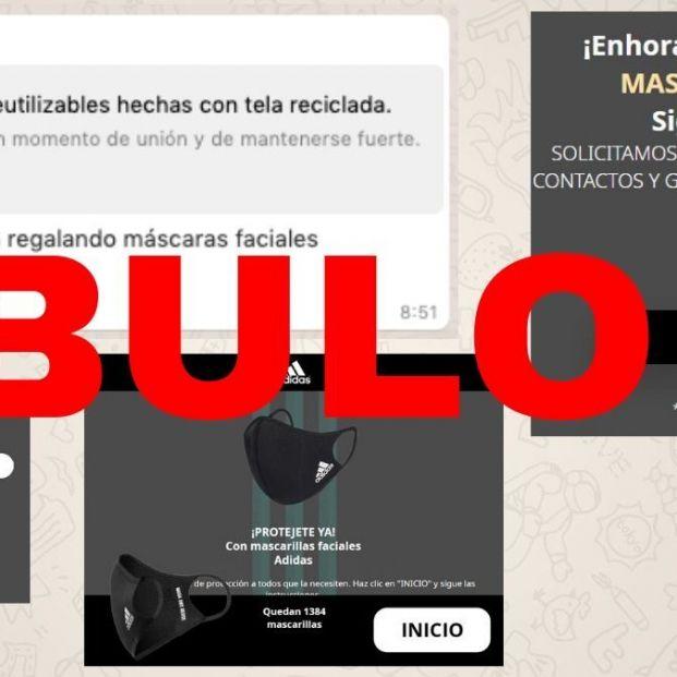 Adidas no está regalando mascarillas reutilizables a través de esta web: es 'phishing'