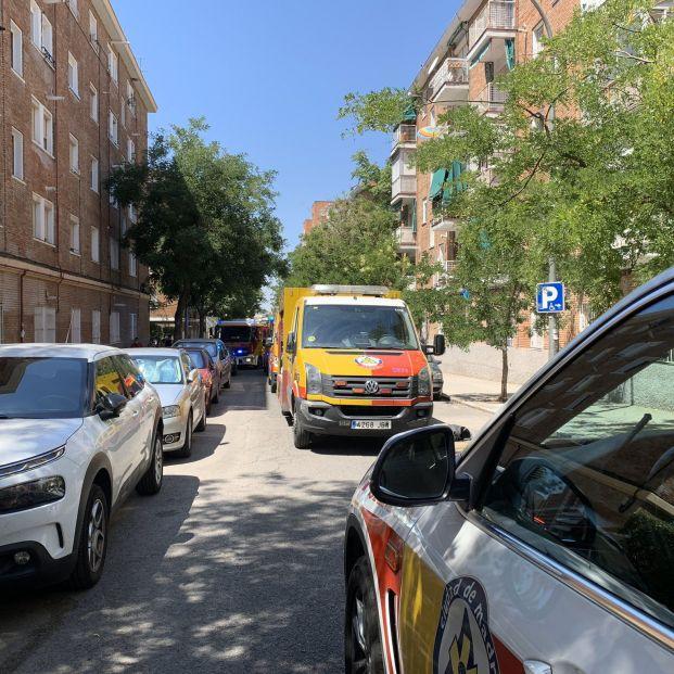 Herido muy grave en Madrid tras caerse desde la ventana que estaba limpiando