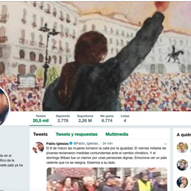 Pablo Iglesias en Twitter