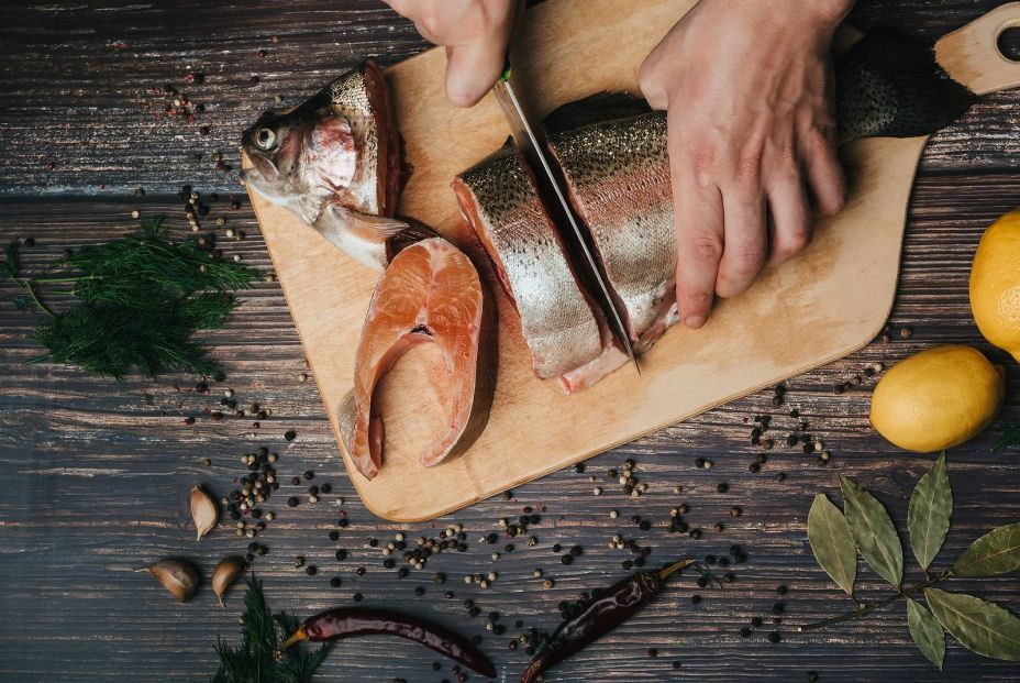 bigstock Trout On The Board Which Cuts 368896111