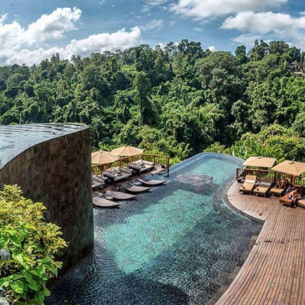 Disfruta de una experiencia inigualable durmiendo en algunos de los hoteles más originales del mundo (hangings gardens of Bali)
