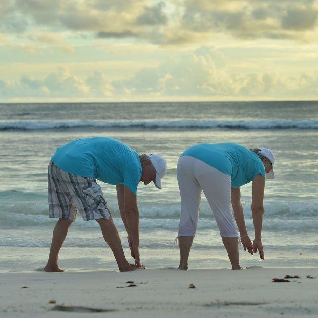 Cuatro ejercicios para hacer en la playa