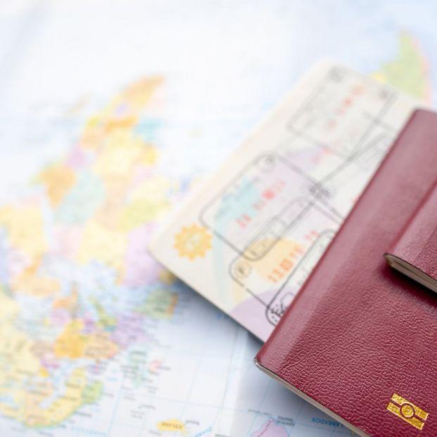bigstock Passport On A Map Of The World 333006832