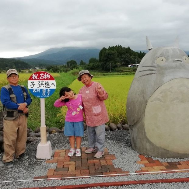 Unos abuelos japoneses crean una réplica a escala del mítico Totoro para sus nietos