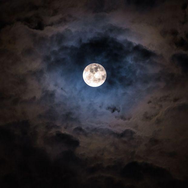 bigstock Mysterious Dark Night Sky With 364691041