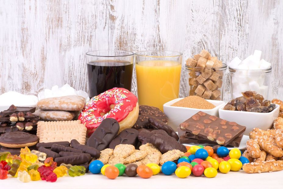 bigstock Food containing a lot of sugar 223357846