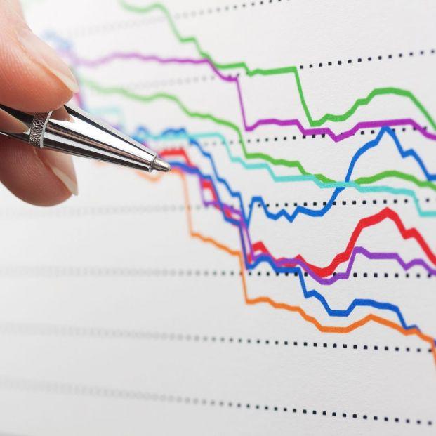 bigstock Financial graphs analysis stoc 330541987