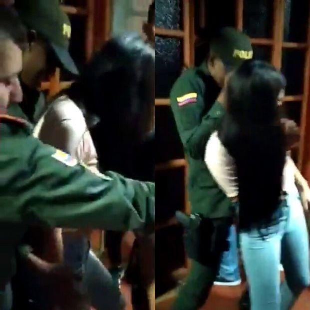VÍDEO: Dos policías acuden a clausurar una fiesta ilegal y terminan bailando sin mascarilla